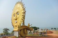 Золотое Солнце в Karnataka Индии стоковое изображение rf