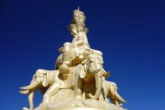 Золотое Puxian Будда на MT Emei Стоковая Фотография RF