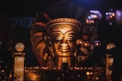 Золотой Будда в Индии стоковое фото