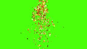 Золотой дождь Confetti иллюстрация штока