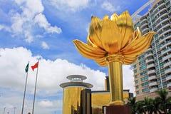 Золотой квадрат лотоса, Макао, Китай стоковые изображения rf