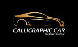 Золотой логотип автомобиля Стоковые Изображения RF