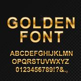 Золотой лоснистый шрифт на черноте бесплатная иллюстрация
