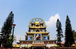 золотой монастырь в coorg стоковое изображение rf