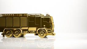 золотой перевод 3d пожарного внутри студии Стоковое Фото