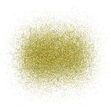 Золотой песок блеска - вектор Стоковое Изображение