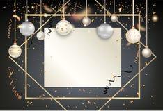 Золотой праздник frame-14 иллюстрация вектора