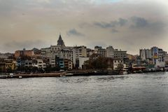 Золотой рожок Karakoy в Стамбуле Стоковые Изображения RF