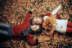 Золотой сезон листьев Стоковая Фотография