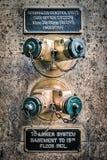 Золотой спринклер стены Стоковая Фотография RF