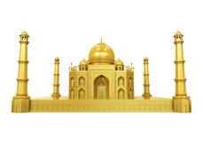 Золотой Тадж-Махал изолировал иллюстрация штока