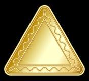 Золотой украшенный треугольник иллюстрация штока