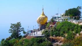 Золотой утес, Kyaiktiyo, Мьянма видеоматериал