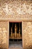 Золотой фасад ремня Wat Xieng, Luang Prabang, Лаоса Стоковые Изображения
