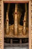 Золотой фасад ремня Wat Xieng, Luang Prabang, Лаоса Стоковое фото RF