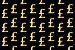 Золотой фунт на черной предпосылке иллюстрация штока