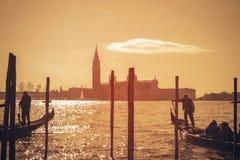 Золотой час в Венеции Стоковое Изображение