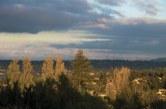Золотой час Ovelooking Lake Washington стоковые фотографии rf