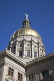 золотой штат купола капитолия здания Стоковое фото RF
