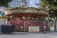 Золотой Carousel на прогулке QueenСтоковая Фотография RF