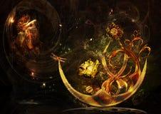 золото абстракции иллюстрация вектора