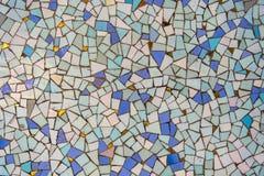 Золото бирюзы картины мозаики голубое стоковые изображения