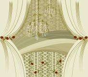 золото биса занавесов Стоковое Изображение RF