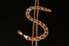 золото браслета цепное Стоковое Фото