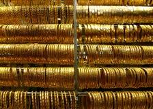 золото браслетов Стоковые Изображения
