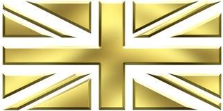 золото Великобритания флага Стоковое Изображение