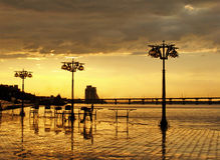 золото вечера Стоковые Фотографии RF