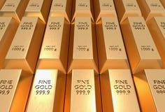 Золото в слитках - финансовая концепция успеха и вклада стоковая фотография