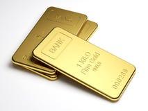Золото в слитках Стоковые Фотографии RF