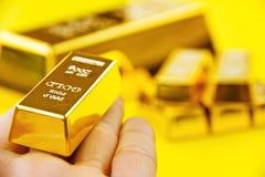золото в слитках Стоковое Изображение RF