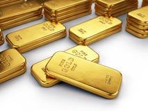 Золото в слитках Стоковая Фотография RF