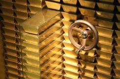 золото в слитках Стоковые Фото