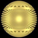 золото глобуса Стоковая Фотография