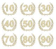 золото годовщины стоковая фотография