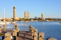 золото города пляжа стоковые изображения