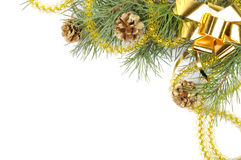 золото декора рождества Стоковое Фото