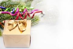 золото декора цвета рождества Стоковое фото RF