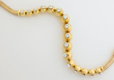 золото диаманта браслета Стоковое Изображение RF