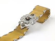 золото диамантов браслета Стоковая Фотография RF