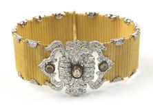 золото диамантов браслета Стоковое Изображение RF