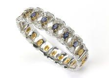 золото диамантов bangles Стоковые Изображения RF