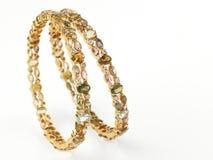 золото диамантов bangles Стоковое Изображение