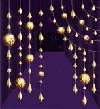 золото диско шарика Иллюстрация штока