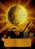 золото диско шарика иллюстрация вектора