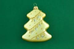 золото ели украшения рождества Стоковые Изображения
