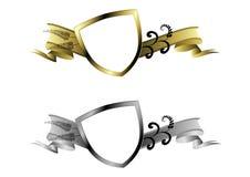 золото защищает серебр Стоковые Изображения RF